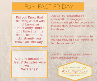 Did you Know that Following Jesus was